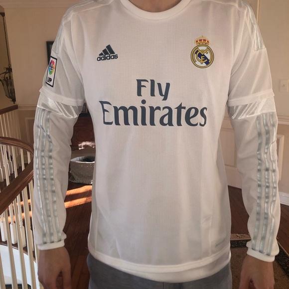 adidas Shirts   Real Madrid Soccer Long Sleeve Jersey   Poshmark